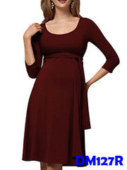 (DM127R) Maternity Dress- Red