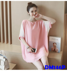 (DM146P) Maternity Chiffon Top - Pink