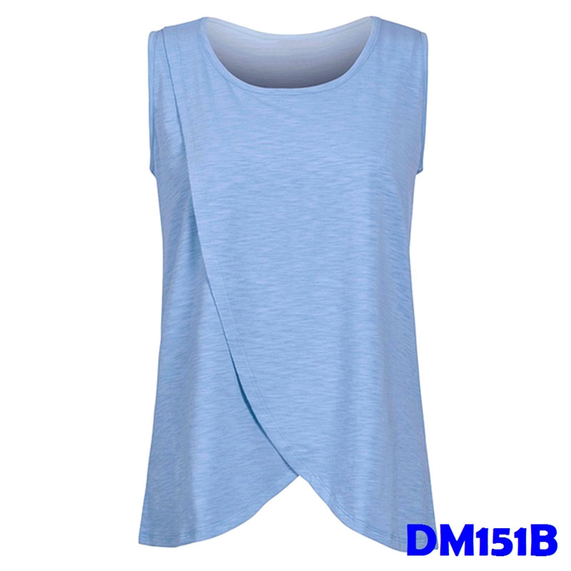 (DM151B) Maternity Nursing Tops - Blue