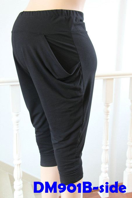 (DM901B) Lady Pregnant Harem Pants - Black