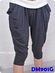 (DM901G) Lady Pregnant Harem Pants - Grey