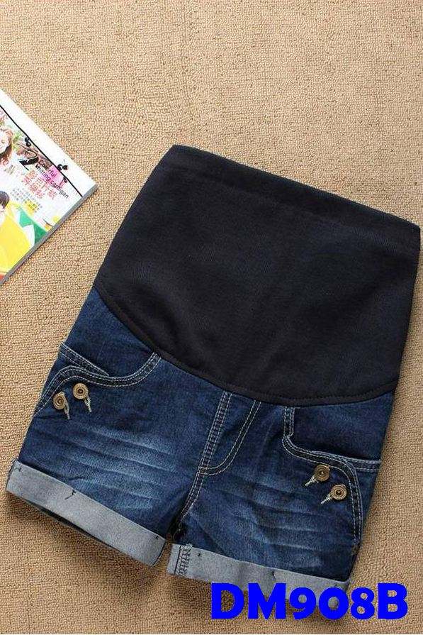 (DM908B) Maternity Denim Pants - Blue