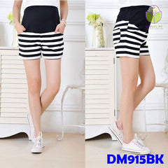 (DM915) Maternity Short Pants - Cotton - Stripe