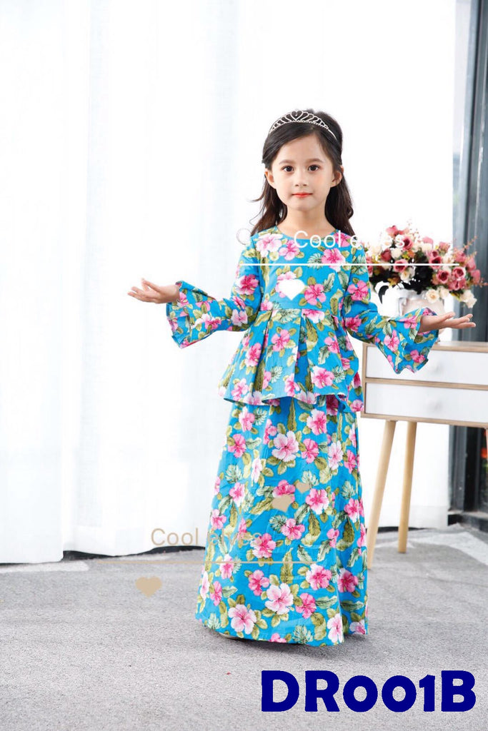(DR001B) Raya dress - Hibiscus