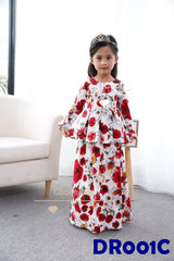 (DR001C) Raya dress - Flower