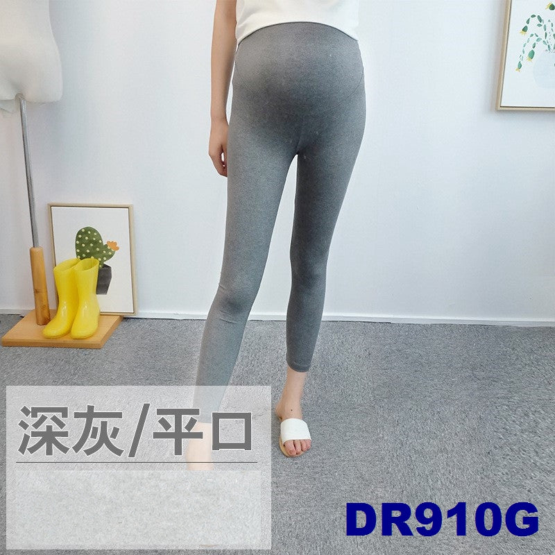 (DM910G) Maternity Ankle Leggings - Grey