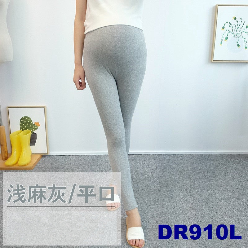 (DM910L) Maternity Ankle Leggings - Light Grey