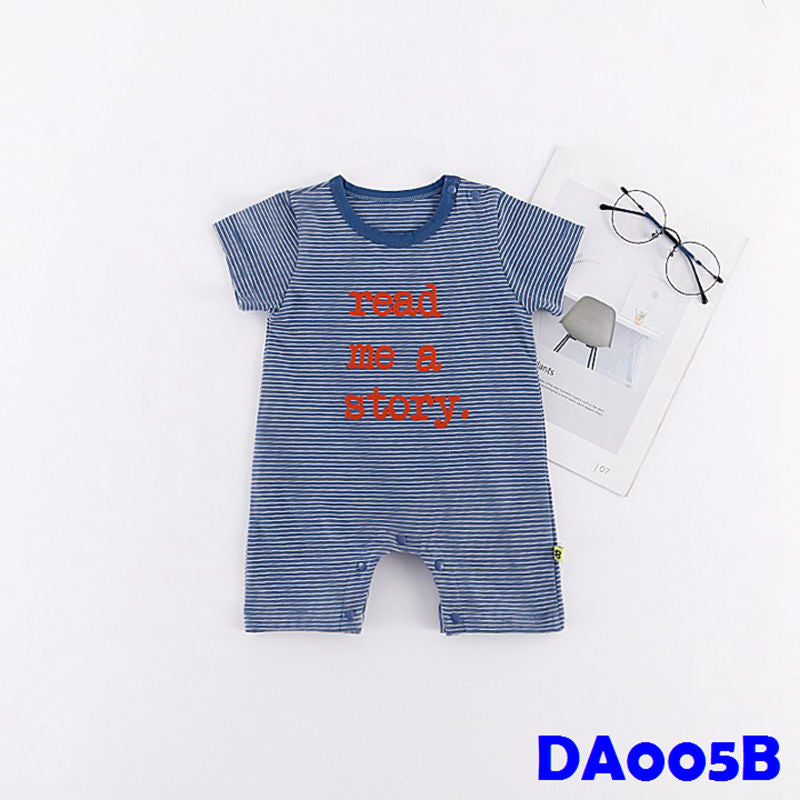(DA005B) Baby Rompers - Read a Story (Blue)