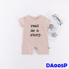 (DA005P) Baby rompers - Read a Story (Pink)