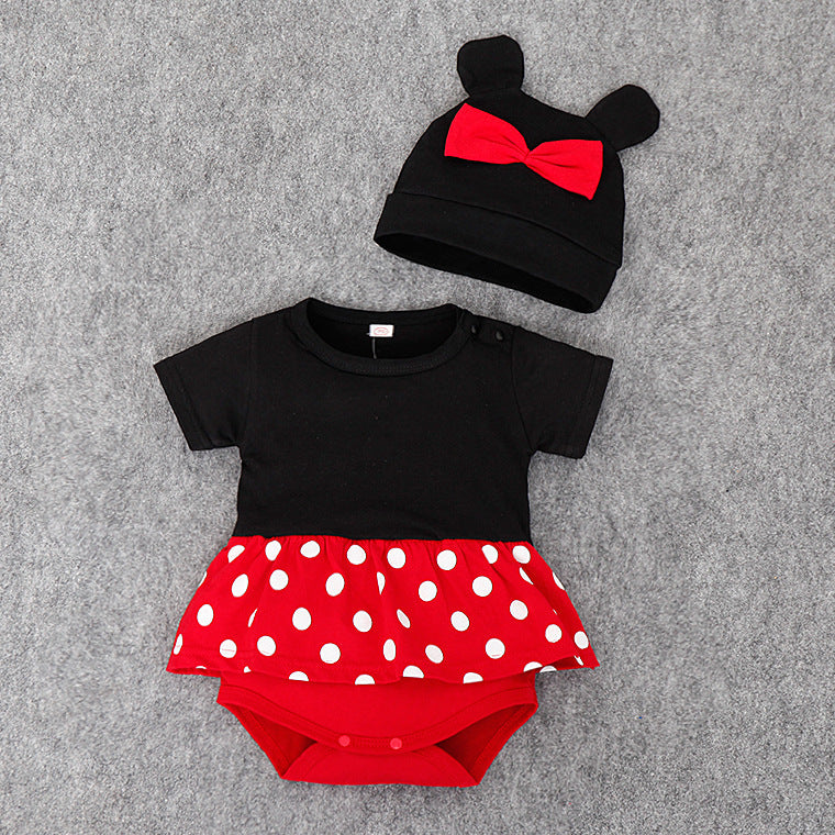 (DA064) Baby Rompers - Minnie with Hat