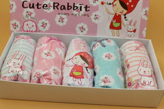 (DU007) Girl Panties - Cute Rabbit