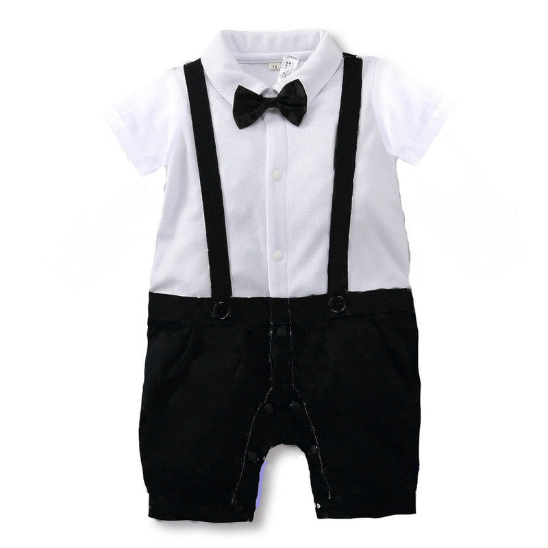 (AH-005) Rompers - Gentleman White