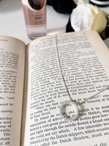 Sterling Silver Cubic Zirconia Circle of Life Pendant Necklace - Book