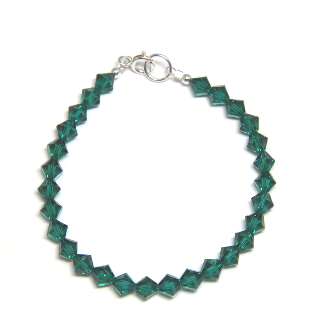 Swarovski Crystal Bracelet - Emerald Green-Jewellery Inspired
