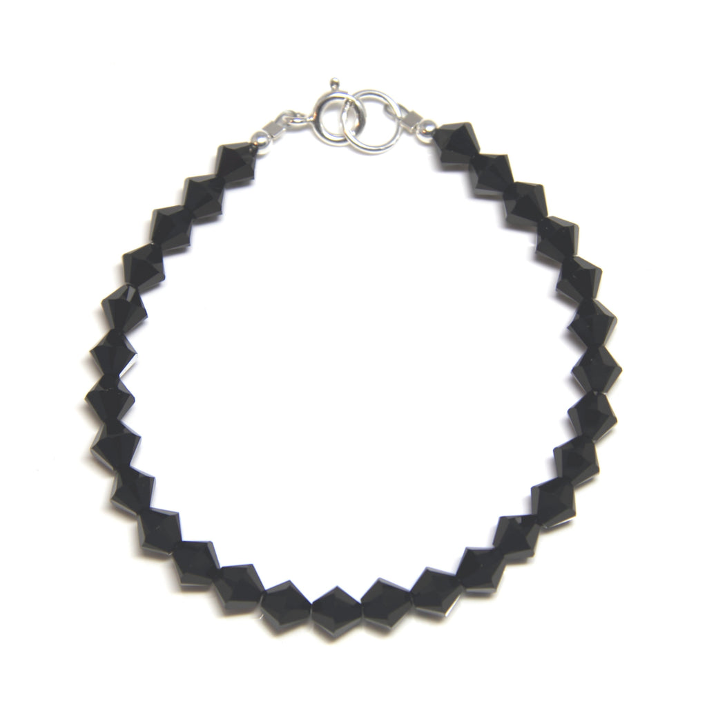 Swarovski Crystal Bracelet - Jet Black-Jewellery Inspired