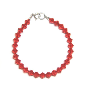 Swarovski Crystal Bracelet - Light Siam Red-Jewellery Inspired