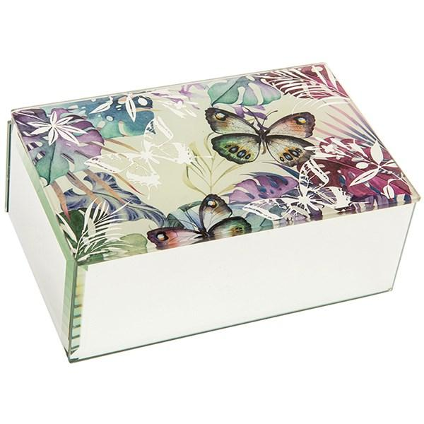 Tropical Butterfly Oblong Jewellery Box-Jewellery Inspired