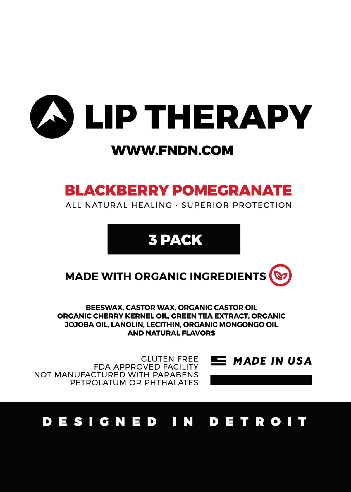 FNDN Lip Therapy - Blackberry Pomegranate / 3-Pack