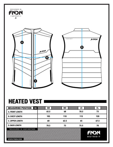 fndn size chart heated vest