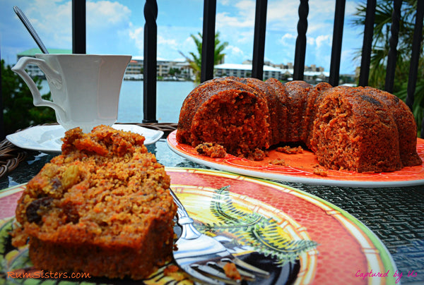 Spice It Up spiced rum cake carrots and raisins