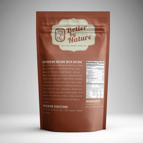 Better By Nature Columbian Whole Bean Coffee Packaging Back