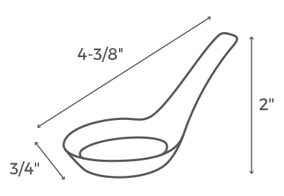 Asian Spoon Bowl Dimensions
