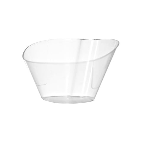 "Sloped Bowls with Utensil Hangers - 4"" - 200 Count Box - Due to COVID-19 all orders will be held until late June. Our focus is currently on manufacturing products used to help treat patients with COVID-19.-SelfEco Caterware"