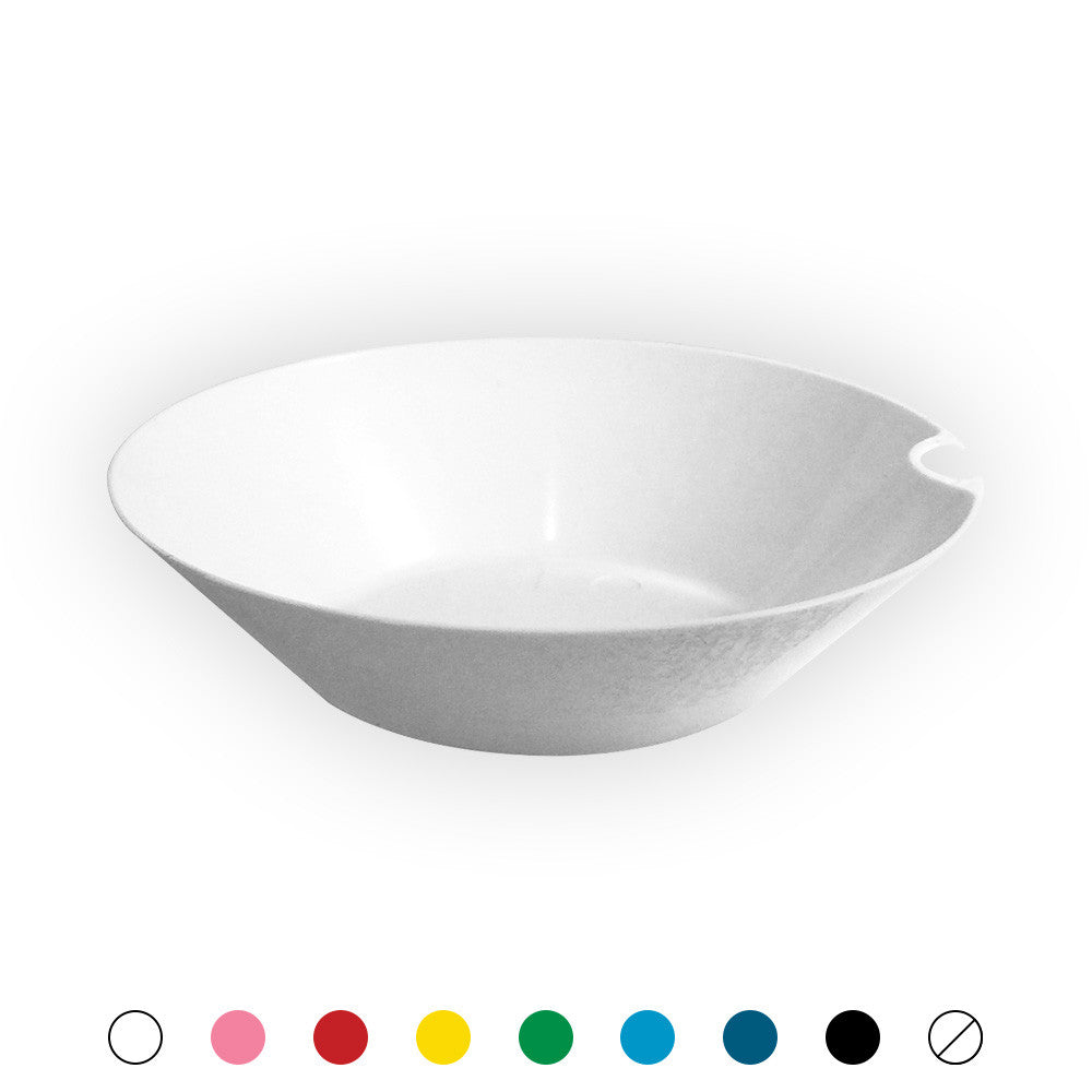 "Bowls with Utensil Hangers - 4"" - 300 Count Box-SelfEco Caterware"