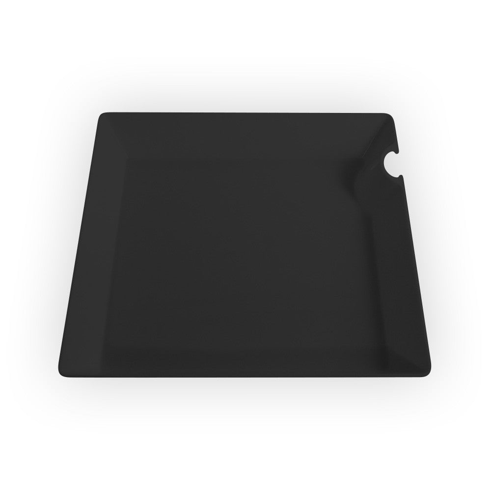 "Square Plates with Utensil Hangers - 4"" - 150 Count Box - Due to COVID-19 all orders will be held until late June. Our focus is currently on manufacturing products used to help treat patients with COVID-19.-SelfEco Caterware"