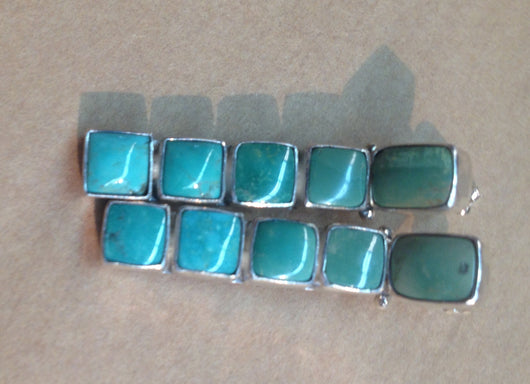 Blue/Green Turquoise Stud Earrings