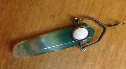 Green Aventurine and Opal Pendant