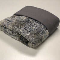 Komfy Couture Weighted Blankets Cooling Weighted Blanket - Stone Tencel and Mystik Pewter Minky