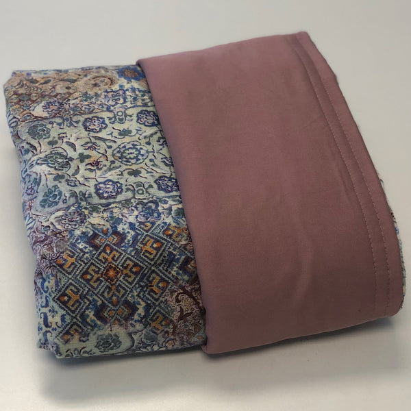 Komfy Couture Weighted Blankets Cooling Weighted Blanket -Wood Rose Tencel and Mystik Minky