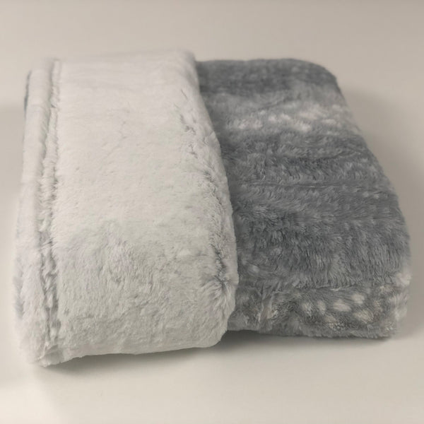 Komfy Couture Weighted Blankets Copy of Full Size Double Minky Luxury Weighted Blanket (54x72) -Silver Frost and Fawn Luxe Minky- Glass beads