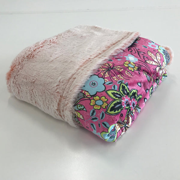 Komfy Couture Weighted Blankets Flower and Frost Minky Luxury Weighted Blanket - Glass Beads