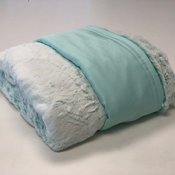 Komfy Couture Weighted Blankets Full Size Cooling Luxury Weighted Blanket (54x72) -Mint Tencel and Frost Breeze Minky - Glass beads weighted blanket calming blanket anxiety blanket