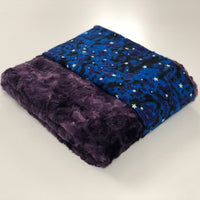 Komfy Couture Weighted Blankets Glow in the Dark Luxury Weighted Blanket with Marble Plum Luxe Minky - Glass beads - Adult, Teen, Child