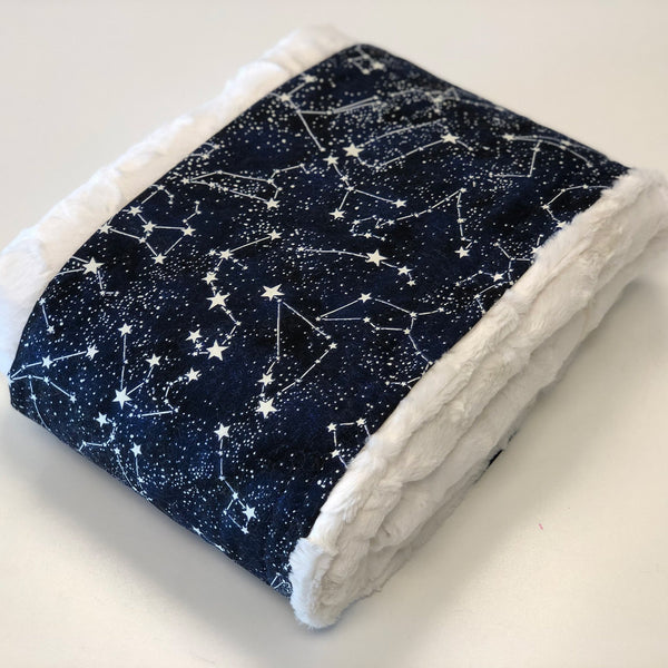 Komfy Couture Weighted Blankets Glow in the Dark Luxury Weighted Blanket with Natural Luxe Minky - Glass beads - Adult, Teen, Child