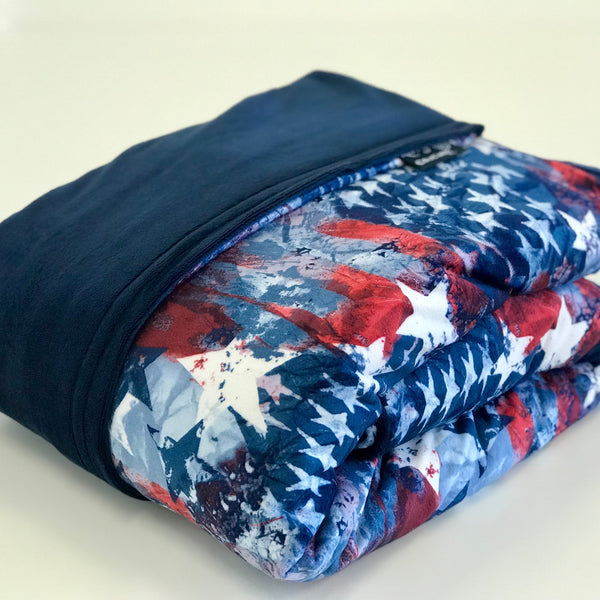 Komfy Couture Weighted Blankets Patriotic Luxury Weighted Blanket - Glass Beads