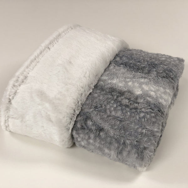 Komfy Couture Weighted Blankets Silver frost and Fawn Luxury Weighted Blanket - Glass Beads