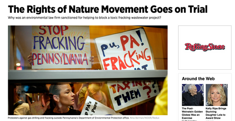 Toxic Fracking Wastewater: The Rights of Nature Movement Goes on Trial: Rolling Stone