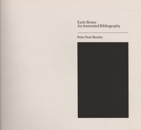 Annotated Bibliography of Earle Birney - ECW Press