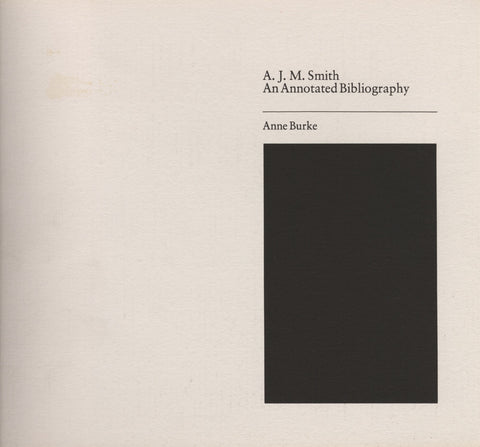 Annotated Bibliography of A. J. M. Smith - ECW Press
