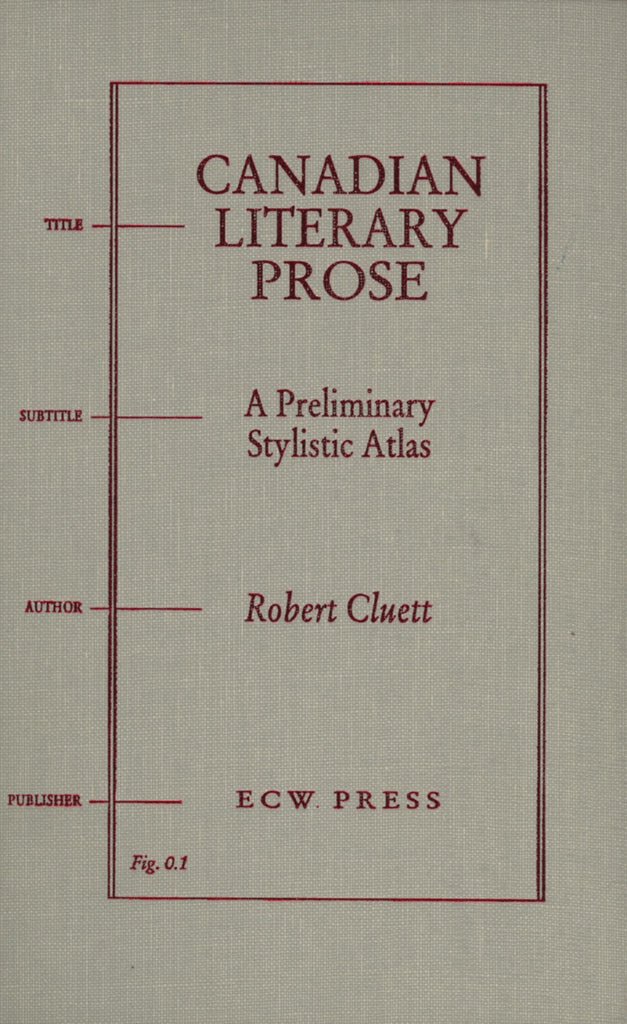 Canadian Literary Prose - ECW Press  - 1