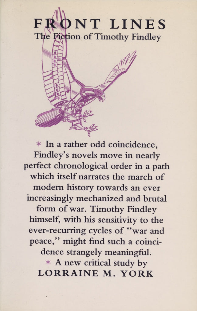 Front Lines: The Fiction of Timothy Findley - ECW Press