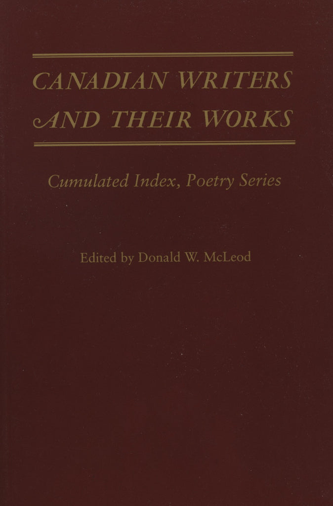 Canadian Writers and Their Works - Poetry Index - ECW Press