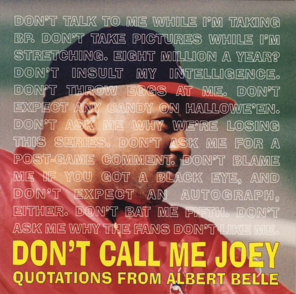 "Don't Call Me Joey: The Wit and Wisdom of Albert ""Joey"" Belle - ECW Press"