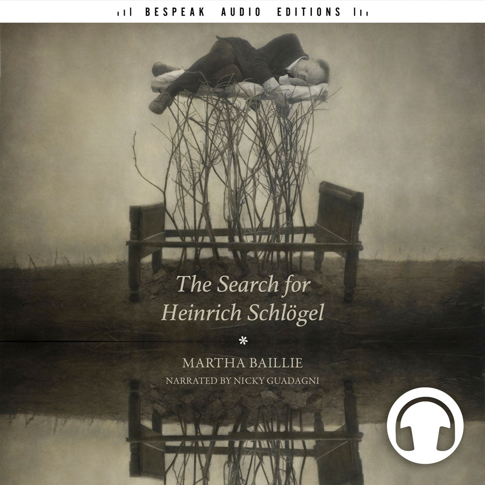 The Search for Heinrich Schlogel audiobook cover, Bespeak Audio Editions