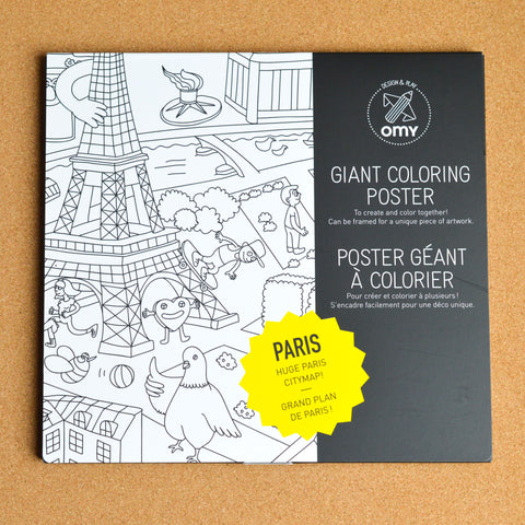 OMY Giant Colouring Poster - Paris