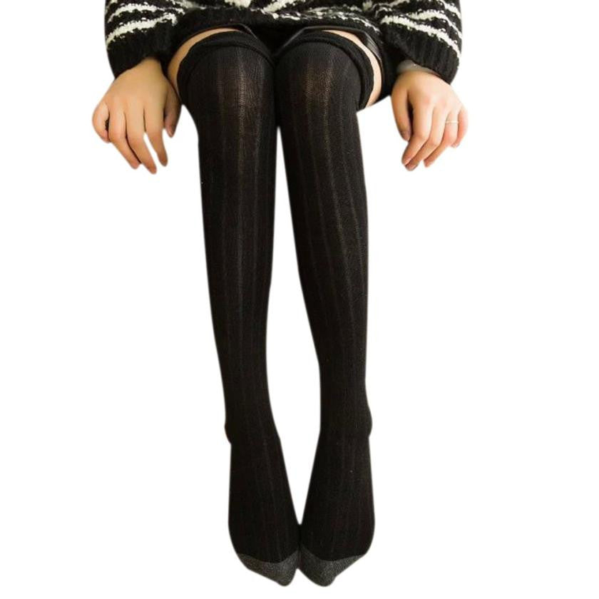 High Quality Winter Autumn Women Winter Knitted Over Knee Long Boot Thigh-High Cotton Warm Leggings